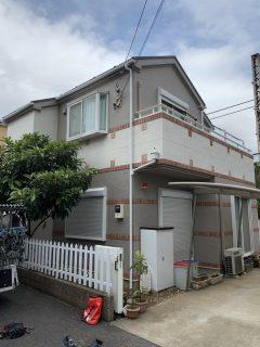 平塚市O様邸で外壁屋根塗装