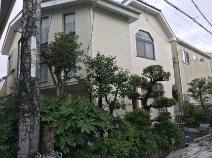 藤沢市S様邸で外壁屋根塗装