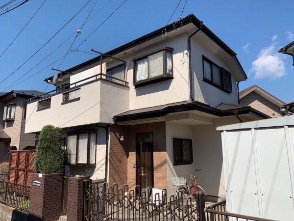 海老名市O様邸で外壁屋根塗装、防水塗装工事
