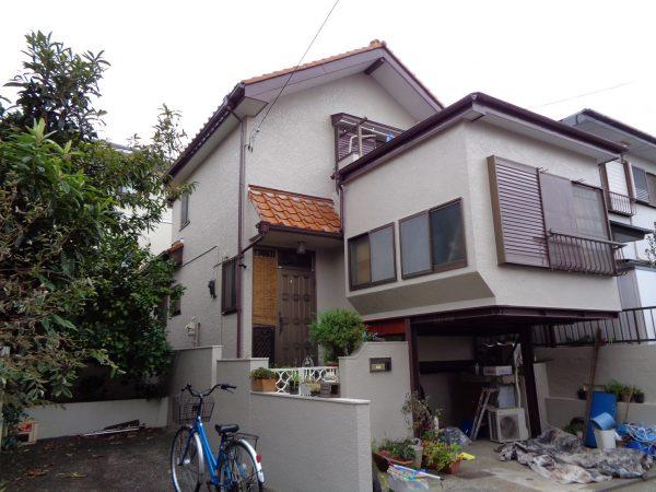 藤沢市N様邸で外壁屋根塗装、防水工事