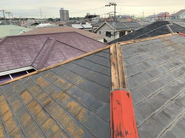 台風被害屋根棟板金補修工事