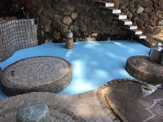 茅ヶ崎市A様邸庭池塗装工事