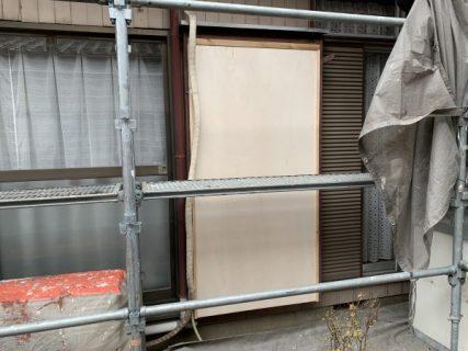 藤沢市S様邸木製雨戸軒天井劣化部分大工補修工事