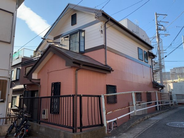 海老名市s様邸外壁屋根付帯部塗装コーキングベランダ修繕工事