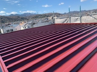 藤沢市K様邸折板屋根塗装工事
